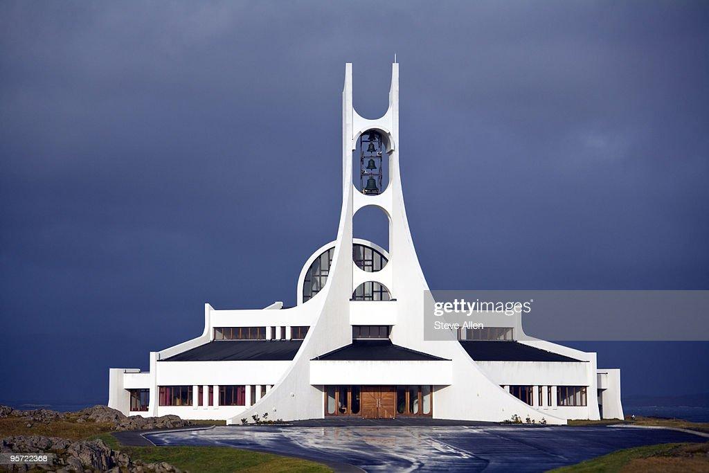 Modern Icelandic Church : Stock Photo