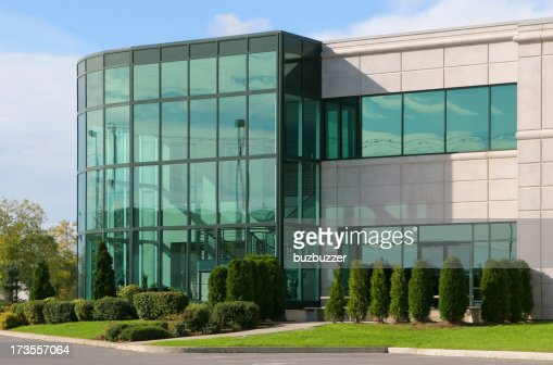 Modern Industrial Building with Glass Atrium