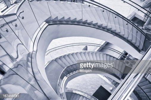 Modern Interior Circular Staircase : Stock Photo