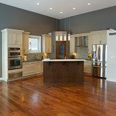 Interior design of modern kitchen  in a new house