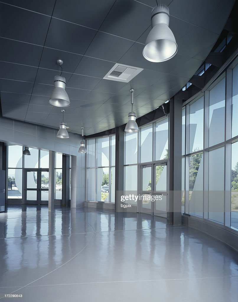 Glass Building Interior : Modern interior of glass building stock photo getty images