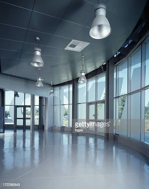 Modern Interior of Glass Building
