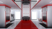 Modern interior of shop (3d rendering)