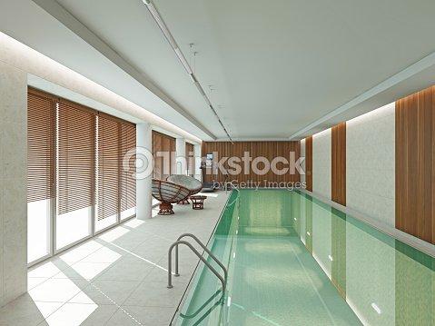 Moderne Interieur Schwimmbad 3dabbildung Stock-Foto | Thinkstock