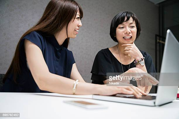 modern Japanese businesswomen at work