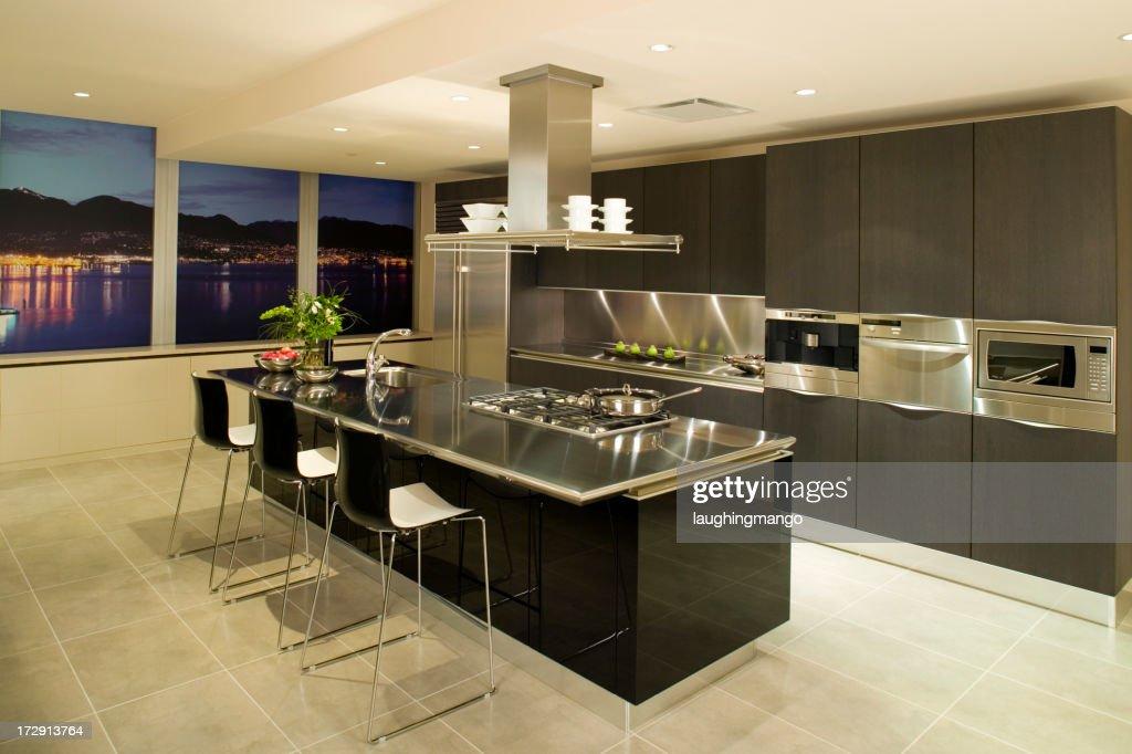 Modern Kitchen Apartment modern kitchen condo apartment stock photo | getty images