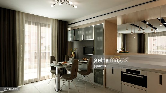 modern kitchen home interior : Stock Photo