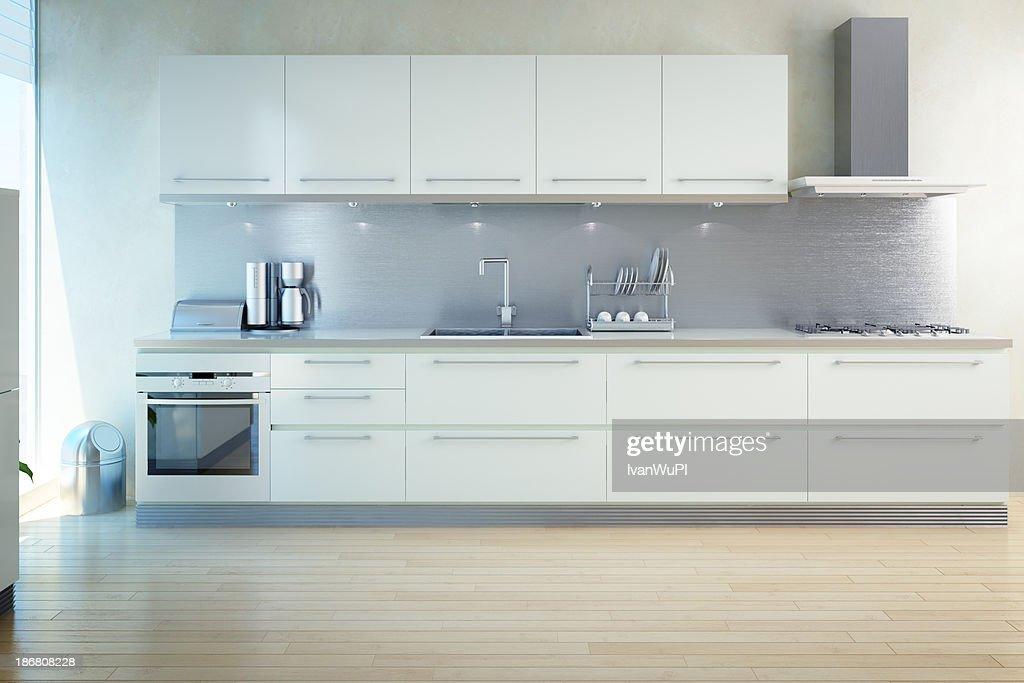interior de cocina moderna : Foto de stock