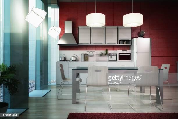 Modernen Küche interior render (CGI