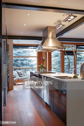 Modern kitchen island : Stock Photo