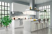 Render image of a modern kitchen