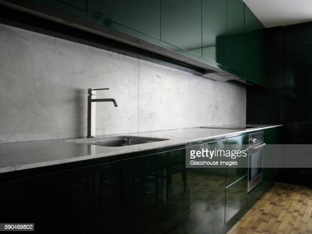 Oven cleaning stock photos and pictures getty images for Oven cleaner on kitchen countertops