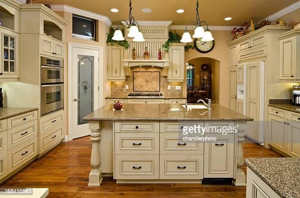 Modern kitchen with matching island
