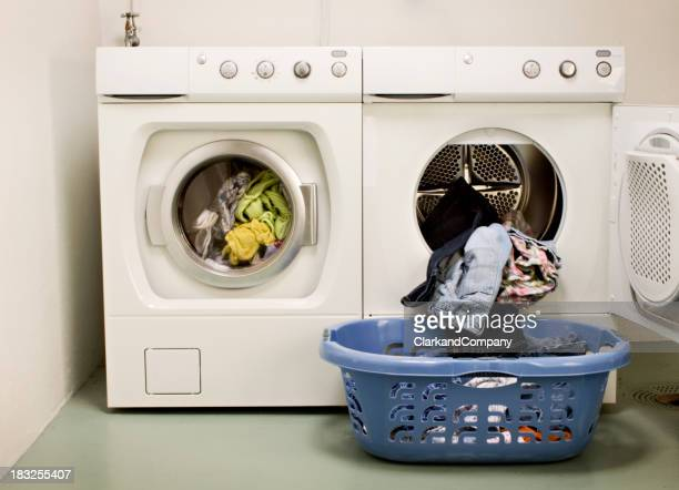 Modern Laundry Room With Washing Machine And Dryer