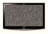 Modern LCD television with static interference and wide screen mode