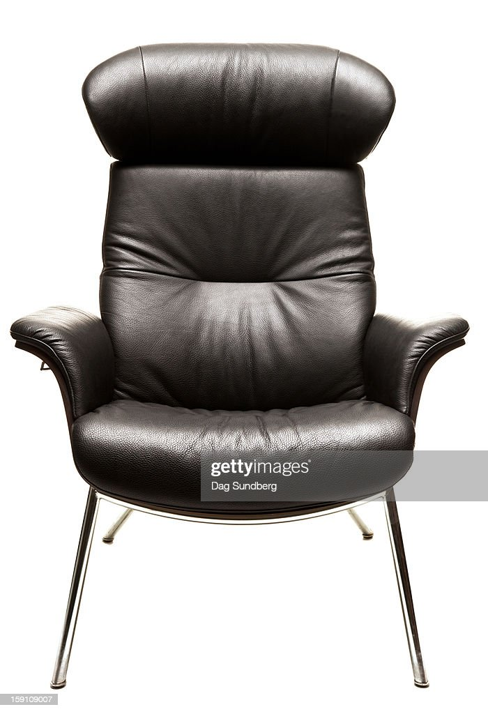 Modern leather chair white background : Stock Photo