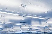 Modern lighting bars indoors