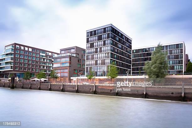 Moderne Leben in der HafenCity Hamburg
