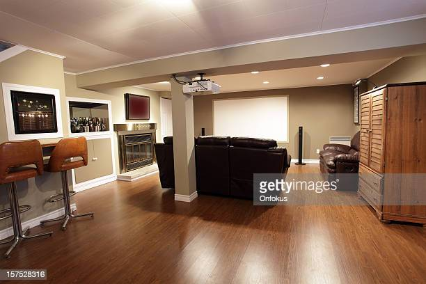 Moderna sala de estar y Home theater