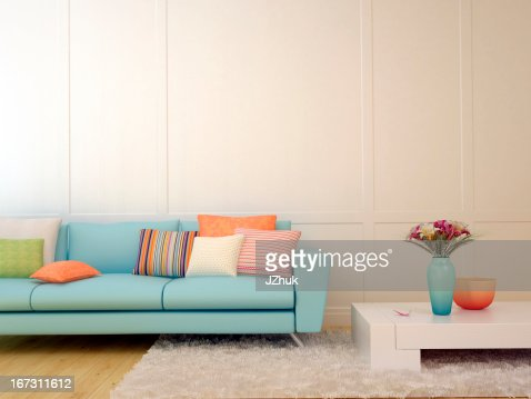Modern living room decor : Stock Photo