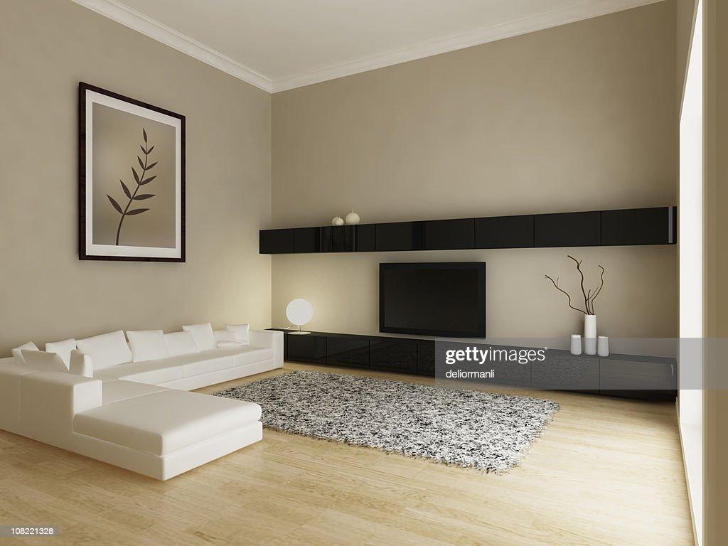 Moderno salotto interno foto stock getty images for Interno moderno