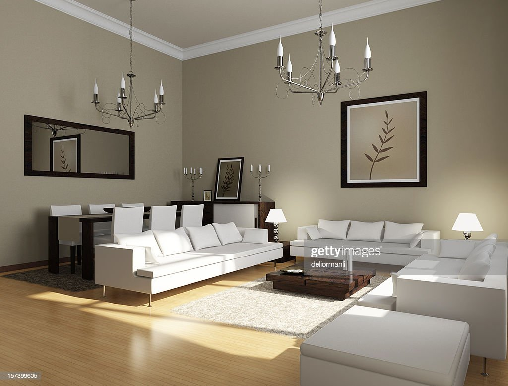 moderne salle de s jour photo getty images. Black Bedroom Furniture Sets. Home Design Ideas