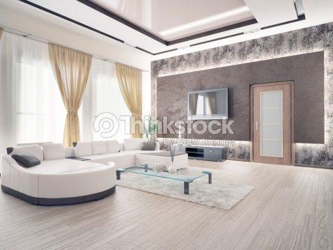 moderne wohnzimmer stock-foto | thinkstock - Wohnzimmer Modern Parkett