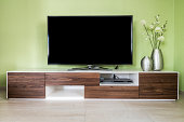 entertainment electronics in a modern living room