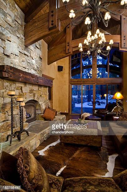 Moderne Wohnzimmer mit Einrichtung
