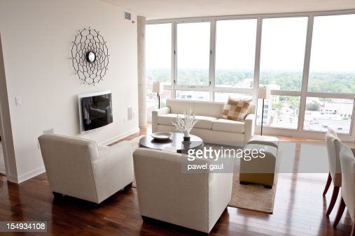 Moderne Wohnzimmer Stock-Foto  Getty Images