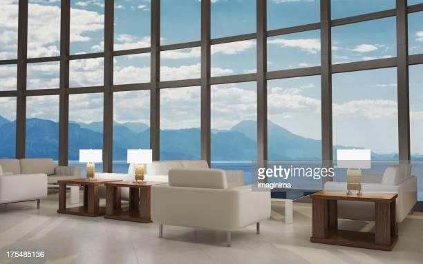 Intérieur moderne de salon du Lobby