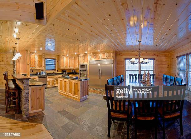 Modern Log Cabin kitchen (XXL)