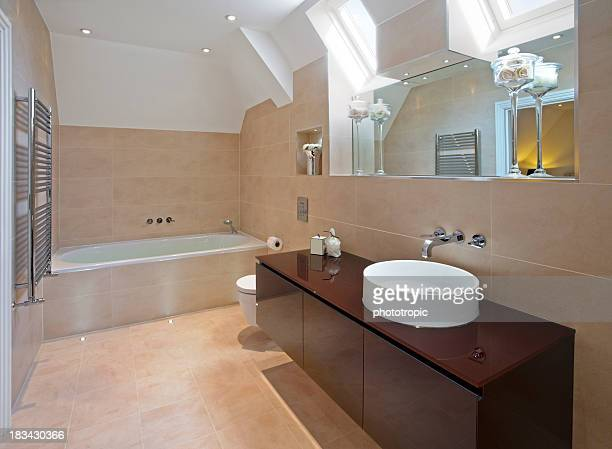 Salle de bain moderne luxueuse