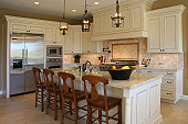 A newly remodeled luxury kitchen.