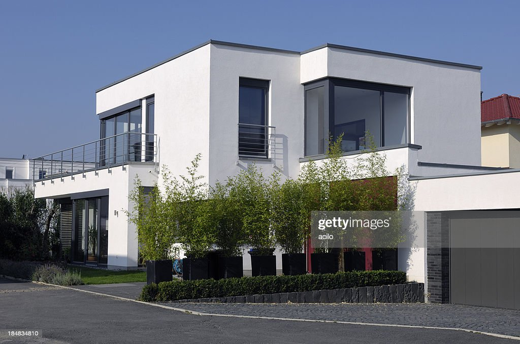 Moderne luxus white house stock foto getty images