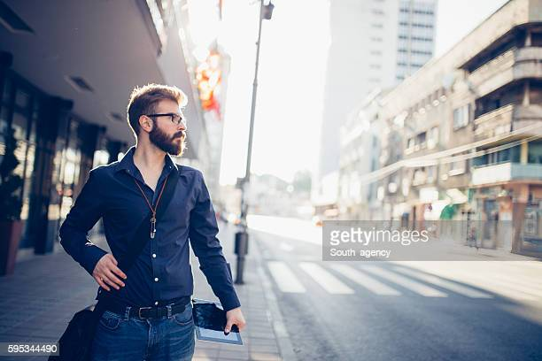 Modern man in the city