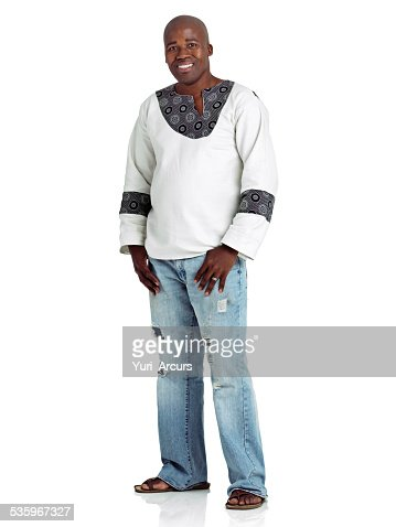 Modern man with a traditional edge : Stock Photo