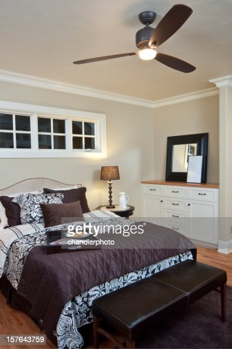 modern master bedroom with dresser stock photo getty images