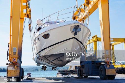 modern motor yacht launch