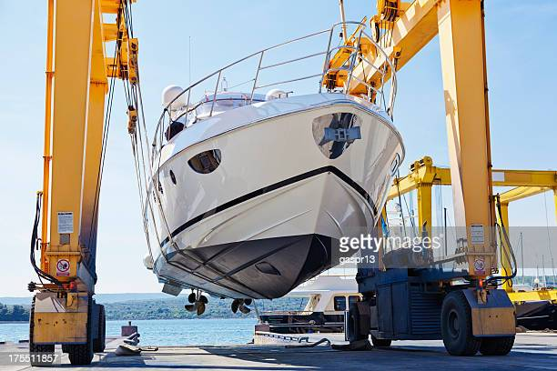 modern motor yacht launch