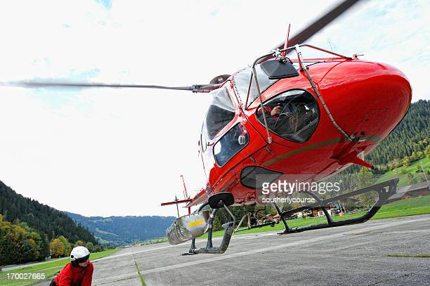 Modern Multi-purpose Helicopter Landing at Airfield