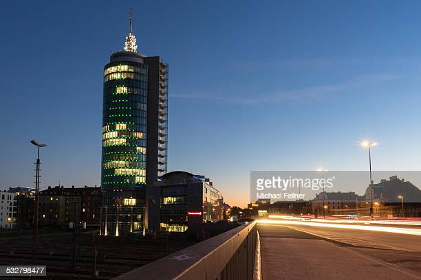 Modern Munich at blue hour