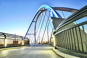 A one of the walkways on the Lowry Avenue Bridge in  Northeast Minneapolis, Minnesota. This bridge connects northeast  to north Minneapolis. The bridge goes over the mighty Mississippi river in a rapi