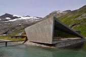 Modern norwegian architecture at Trollstigen