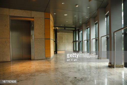 Modern office building interior stock photo getty images for Modern office building interior