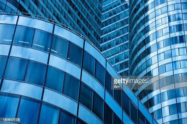 Modern Office Building Low Angle View