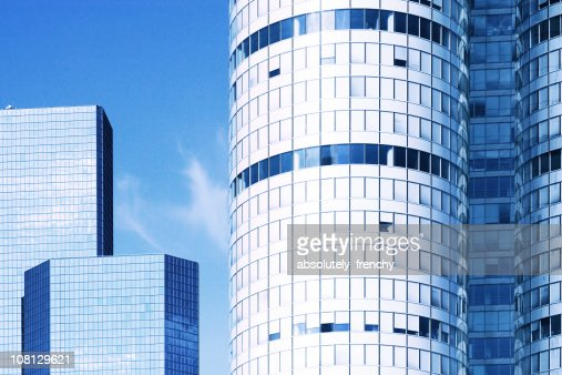 Modern Office Buildings Against Blue Sky : Stock Photo