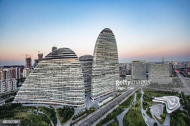 Modern office building,Wangjing SOHO in Beijing