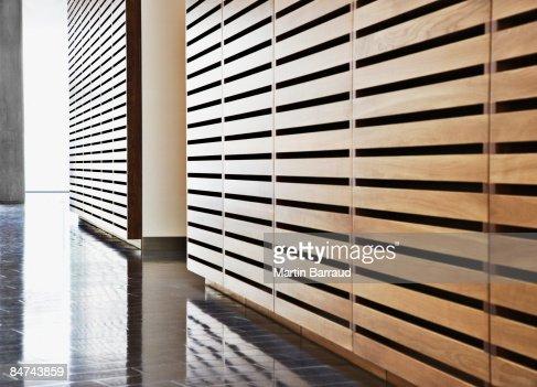 Modern office corridor : Stock Photo