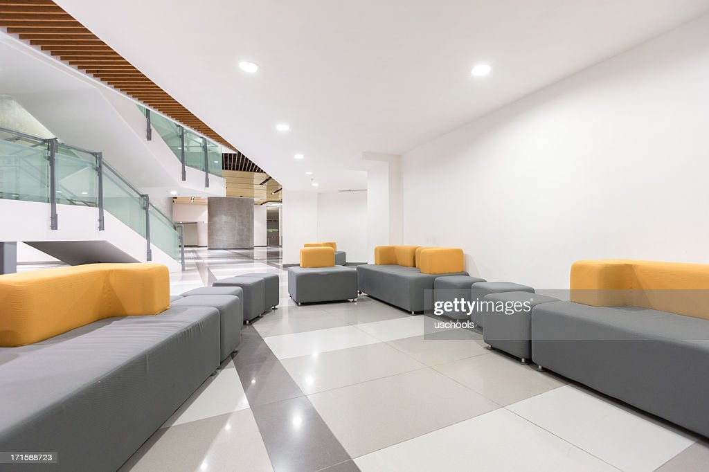 Modern Office Lobby Stock Photo Getty Images
